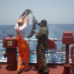 Preparation of the vessel in the Indian Ocean